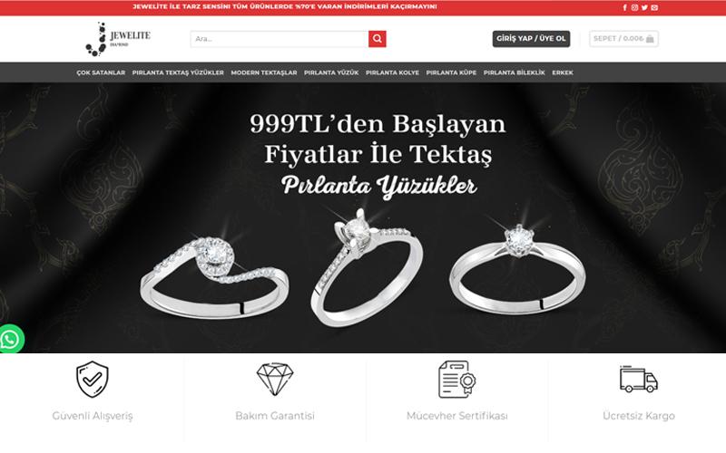 Jewelite Pırlanta Web Sitesi ve Sosyal Medya