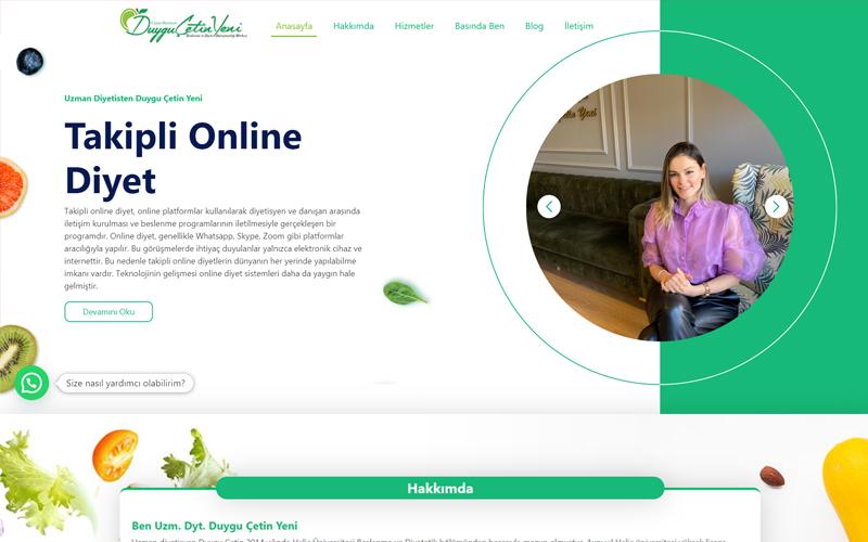 Uzm. Dyt. Duygu Çetin Yeni Web Sitesi
